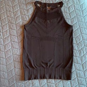 High neck tank in black. Like new condition.